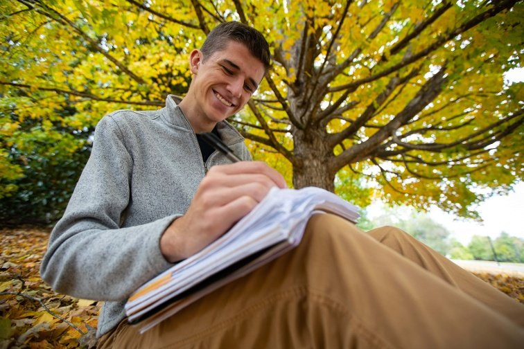 adult male student studying